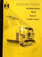 International Harvester Ih Dresser Td8c Dozer Operator Maintenance Manual Book