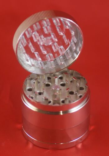 Handmuller, Metal Herb Grinder 4 pieces See through lid and Net