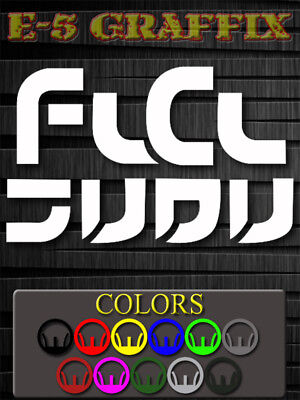 2x FLCL Fooly Cooly Sticker Decal for cell mobile phone