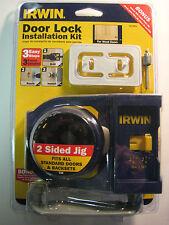 IRWIN DOOR LOCK INSTALLATION KIT- FOR WOOD DOORS