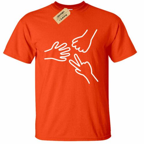 Homme Rock Papier Ciseaux T-Shirt jeu graphique Humour