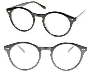 334dec12490 Clear Lens Glasses Oval BLACK KEYHOLE Bridge Frames Geek Nerd Retro ...