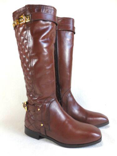 SALE XYXYX  italienische Langschaft Stiefel braun gold Leder Schuhe Gr 36 NEU