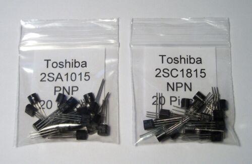 "20 Qty 2SC1815 Complimentary Transistors NOS! 20 Genuine ""Toshiba"" 2SA1015"