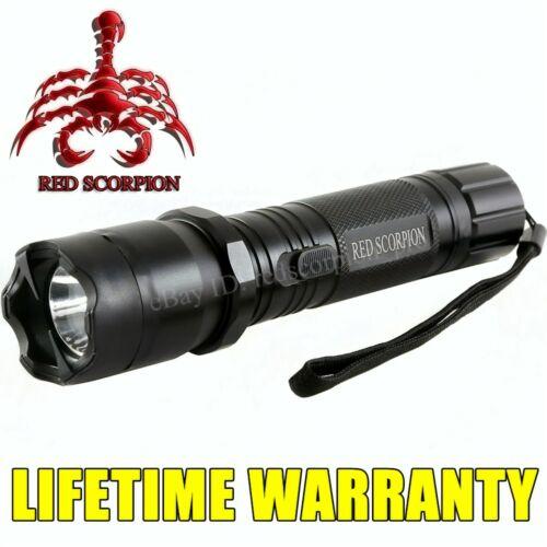 Red Scorpion 80 Billion Volt Metal Stun Gun Rechargeable with LED Light