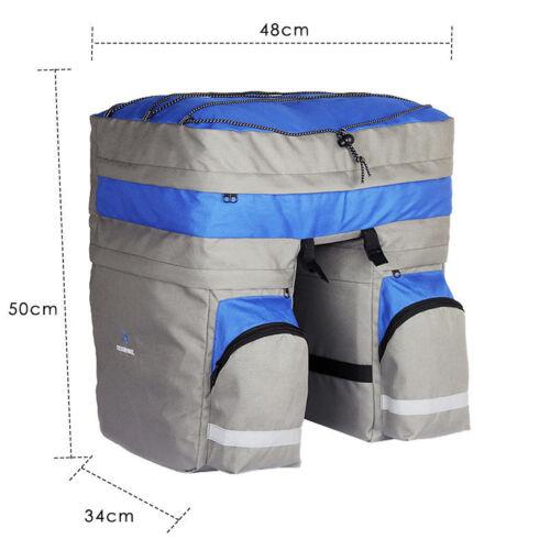60L Cycling Bike Rear Tail Rack Seat Trunk Saddle Storage Pannier Pouch Bag