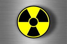 Autocollant sticker voiture signe symbole radioactif biohazard zombie warning
