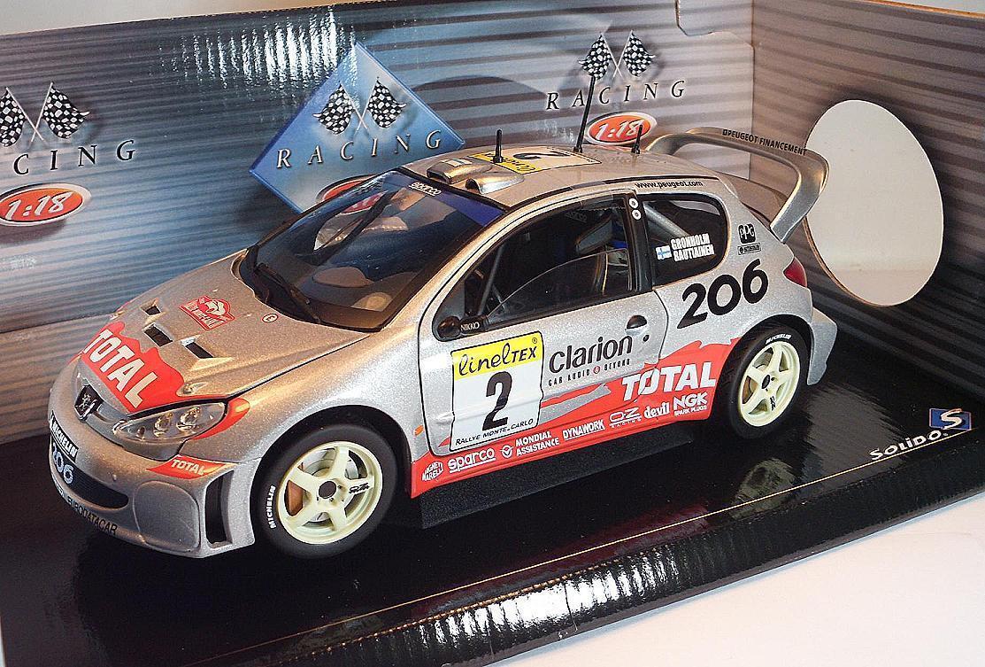 SOLIDO 1 18 PEUGEOT 206 206 206 WRC conducteur Gronholm & Rautiainen neuf dans sa boîte  2794 c85953