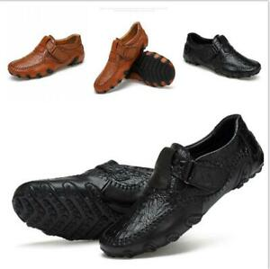Men-039-s-Moccasins-Leather-Casual-Shoes-Fashion-Driving-Slip-on-Shoes-Flats-Loafers