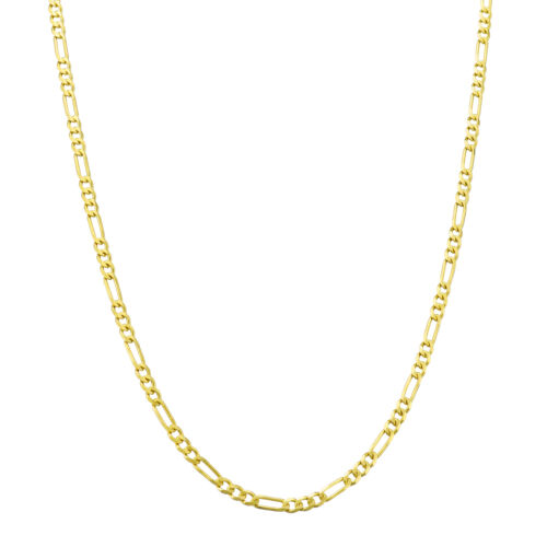 """14K Yellow Gold REAL Womens 2mm Italian Figaro Link Chain Pendant Necklace 18/"""""""