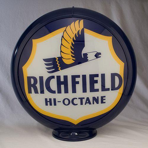 Richfield Hi-Octane Gas Pump Globe  Sign Cabin Lodge Man Cave Home Garage Decor