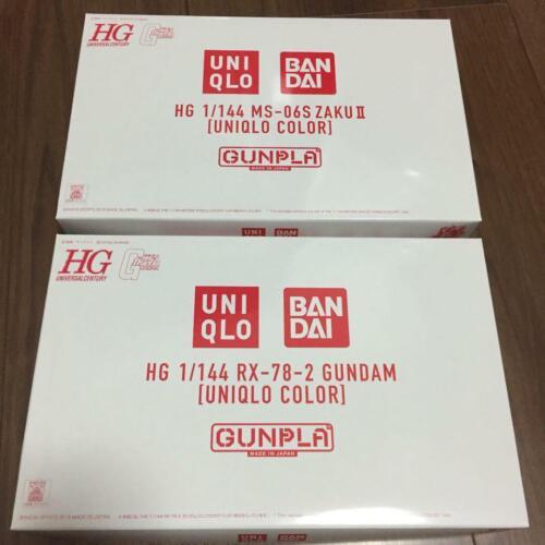 UNIQLO GUNDAM New RX-78-2ZAKU MS-06S 2 set Gunpla HG 1//144 BANDAI UNIQLO Color