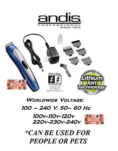 Andis Li Ion Sans Fil Rechargeable Trimmer&guide Peigne Set Coupe-ongles Pour