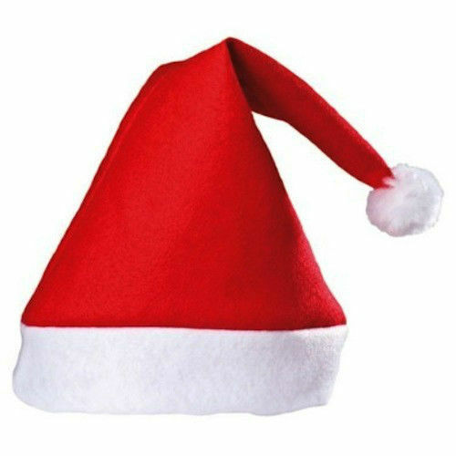 518358a1fb3a1 Father Christmas Red Santa Hats Xmas Office Party Accessory Hat for sale  online