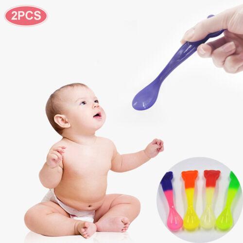 Food Utensils Infant Flatware Temperature Sensing  Baby Feeding  Spoon