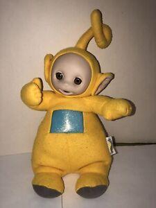 TELETUBBIES-Stuffed-Plush-12-LALA-LAA-LAA-Yellow-Doll-Talking-Talks