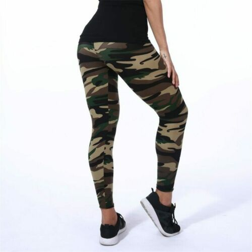 Women Leggings Camouflage Printing Stretch Fitness Casual Pant For Ladies