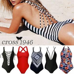 Plus-Size-Sexy-Women-039-s-Swimwear-One-Piece-Swimsuit-Push-Up-Bikini-Bathing-Suit