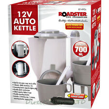 12V In Car Kettle Travel Lighter Socket Rapid Heat System Auto Shut off 81492C