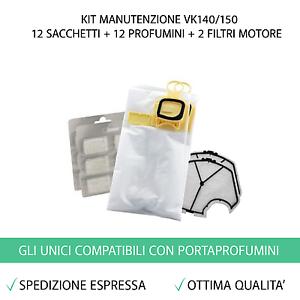 12-SACCHETTI-12-PROFUMI-2-FILTRI-ASPIRAPOLVERE-FOLLETTO-VK140-VK150-VK-140