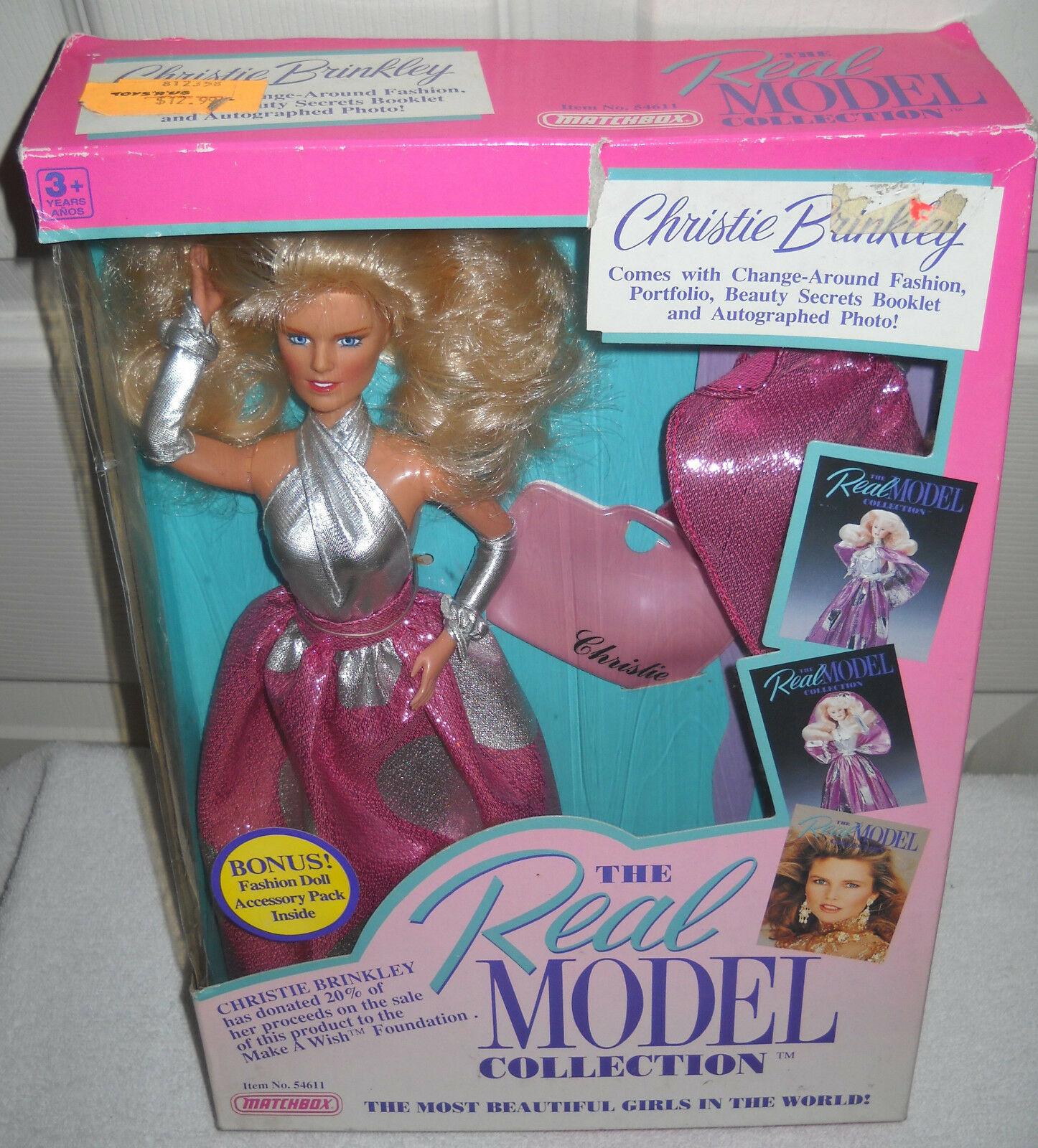Nrfb Vintage Matchbox Real Colección Modelo Christie Brinkley Muñeca