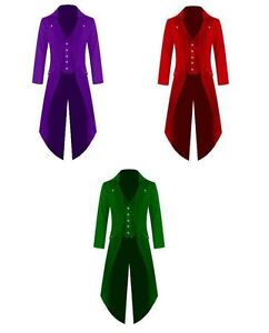 Mens-Steampunk-Gothic-Tailcoat-Multi-Color-Gothic-Jacket-Victorian-Style-Coat
