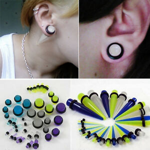 Image Is Loading Glow In The Dark Plugs Taper Earring Expanding