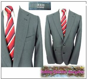 Austin Reed Red Mens 2 Button Suit Jacket Ch42 R Grey Ebay