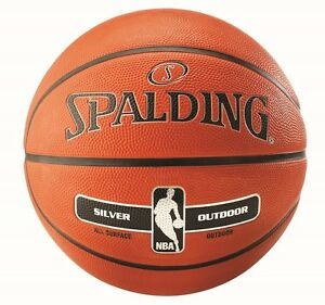 Spalding-Silver-NBA-Outdoor-Basketball-Size-7-ADULT-Tan-Basket-Ball-Inflated-NEW