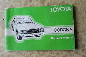 Toyota-Corona-Owner-039-s-Manual-Vintage-Australian-Print-Book-74-75-76-77