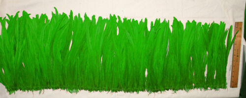 """Rooster Tail Feathers Kelly Green Strung  1//4 lb 12-14/"""" Length Strung"""