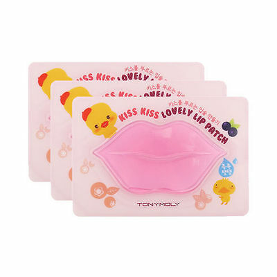 [TONYMOLY] Kiss Kiss Lovely Lip Patch 3PCS [RUBYRUBYSTORE]