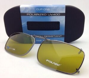 90998894b865 Image is loading New-COCOONS-Yellow-Polarized-Sunglasses-Eyeglasses-Rx-Clip-
