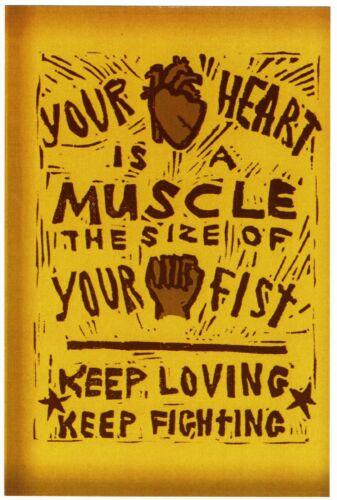 Keep Loving New Keep Fighting ⫸ 894 Postcard YOUR HEART