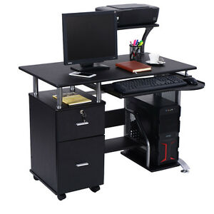 desks with drawer storage small awesome photo of printer keyboard slider white desk computer
