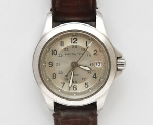 Hamilton-lady-039-s-Khaki-27-5mm-steel-watch-nearmint-perfetto-well-working