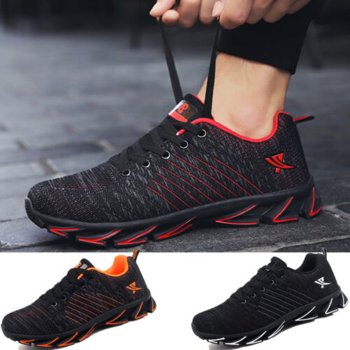 Pius Size 7-14 Men Casual Breathable Sneakers Athletic Running Fitness Gym Shoes