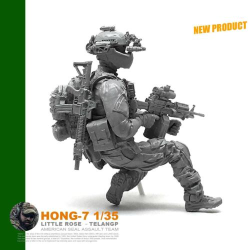 American Navy Seals Figure 1//35 HONG-07 Static Resin Soldier Unpainted DIY Model