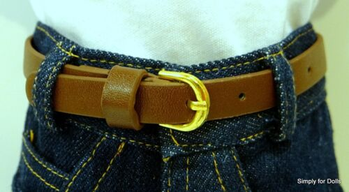 "BROWN Leather Look DOLL BELT fits 18/"" AMERICAN GIRL Doll Clothes Accessory"