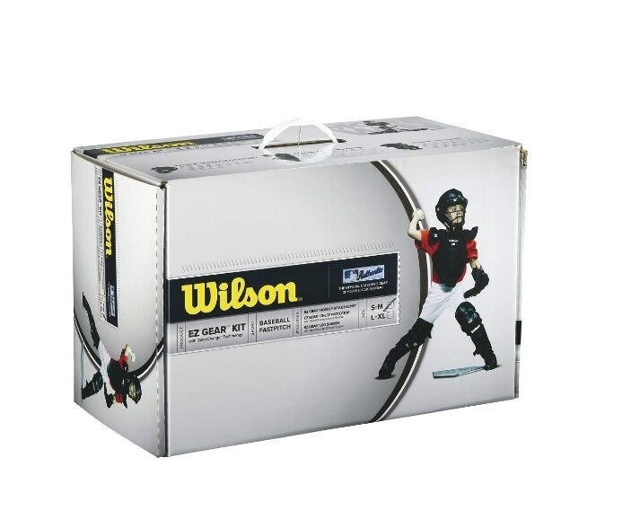 Wilson EZ Gear Kit Youth Small/Medium Navy Catcher's Gear Set NIB Ages 5-7