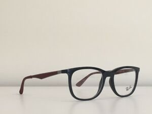 8a7cbbe39fc 72 Ray Ban RB 7078 5598 Round Gray Burgundy Eyeglasses Optical Frame ...