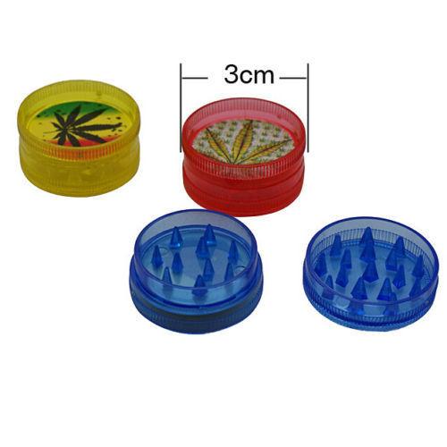 2 X MINI 2 Parts 30MM Tiny Plastic Herb Herbal Reggae Grinder Jamaica BOB Marley
