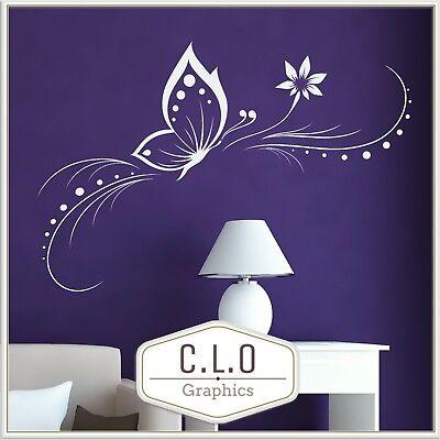 Elegant Butterfly Wall Sticker Vinyl Art Transfer Interior Home Decor Decal UK
