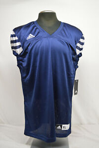 Details about NEW Adidas Men's Climalite Audible Blue and White Football Jersey SIZE XL