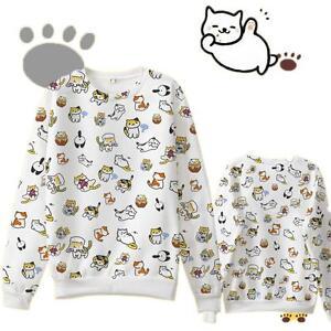 Game Neko Atsume ねこあつめCute Cat Sweater Cotton Fleece Hoodies pullover Sweatshirt