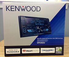 Kenwood DPX302U Double-DIN AAC/WMA/WAV/MP3 In-Dash Car Stereo