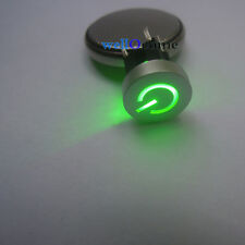 2pc Green LED 10mm Cap Power 12V 50mA Momentary Tact Push Button Switch