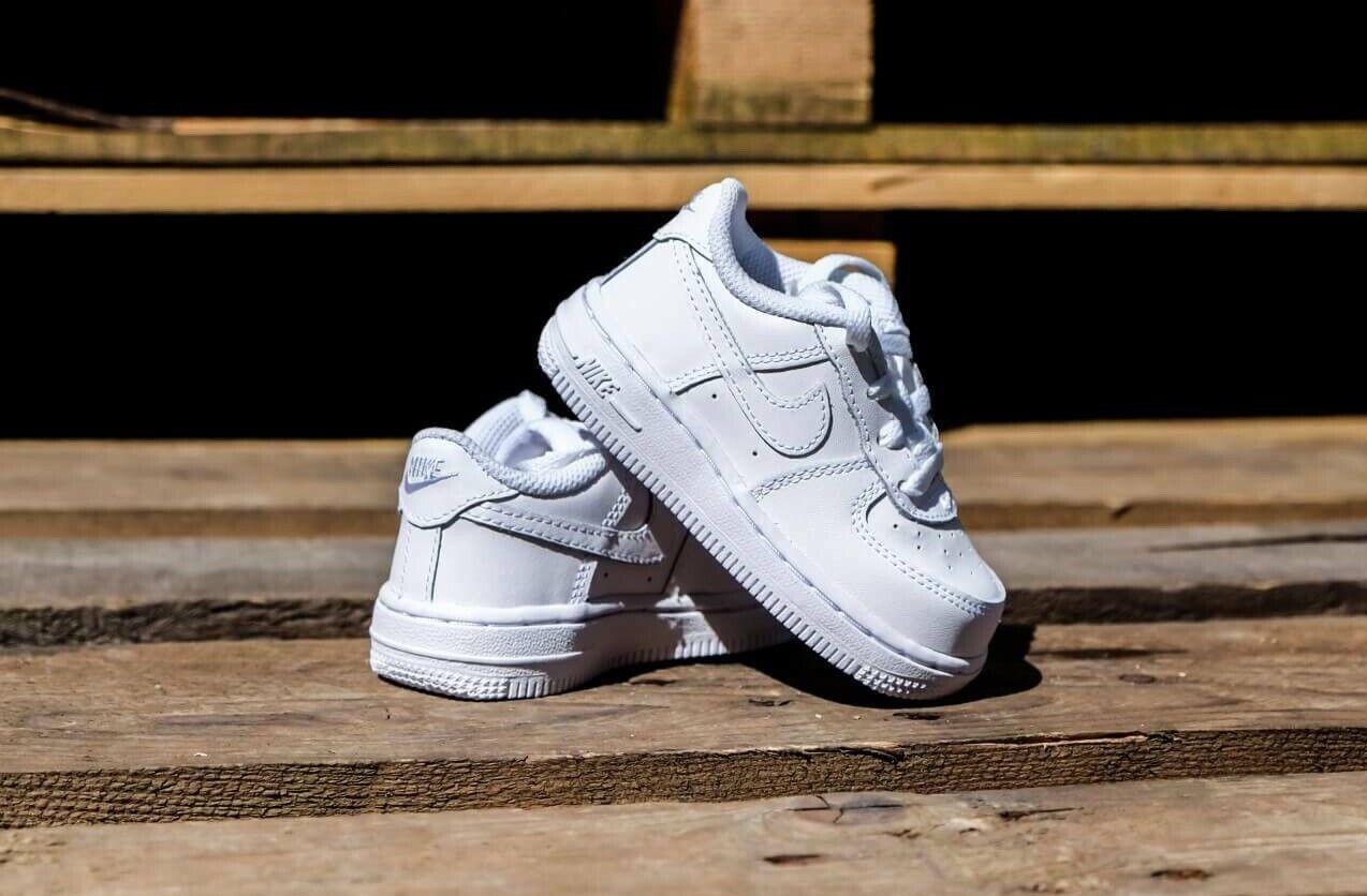 Nike Air Force 1 TD Low SNEAKERS Size 10c White 314194 117 for ...