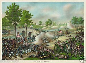 US American Civil War Battle of Antietam 12x8 Inch Print