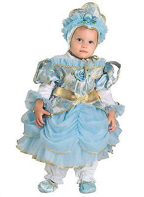 Il Migliore Vestito Costume Carnevale Baby Principessa Azzurra 0 1 2 Anni 6 12 18 24 Mesi